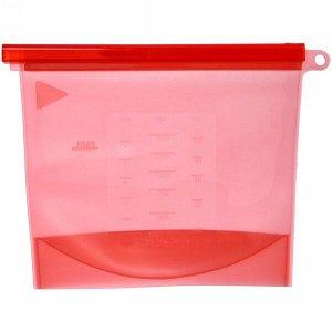 Контейнер силиконовый для приготовления и хранения продуктов с застежкой 1500мл