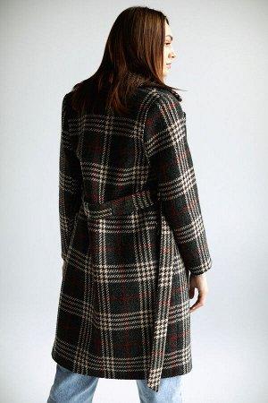 Пальто classic green/клетка