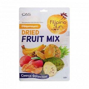 Микс ананас, банан, манго и сметанное яблоко, сушеный fruit mix, filipino sun, 130г