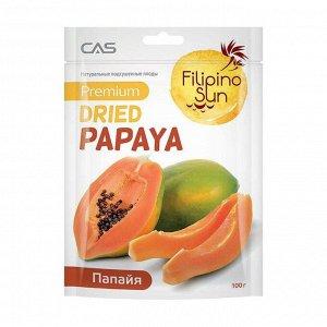 Папайя сушеная, filipino sun, 100г