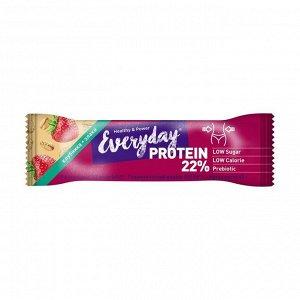 Батончик протеиновый клубника со злаками, everyday, 40г
