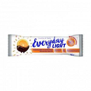 Батончик-мюсли апельсин в шоколаде 80 ккал, everyday light, 30г