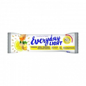 Батончик-мюсли лимон, мед, имбирь, 80 ккал, everyday light, 30г