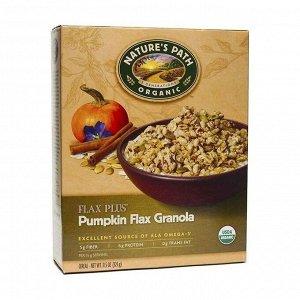 Гранола органическая с тыквенными и льняными семечками pumpkin flax plus® granola, карт. кор., 325г