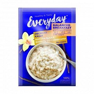 Каша овсяная balanced breakfast натуральная ваниль со сливками, everyday, 40г