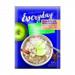 Каша овсяная balanced breakfast яблоко и корица со сливками, everyday, 40г