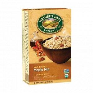 Овсяная каша органическая быстрого приготовления кленовый сироп с орехами, maple nut hot oatmeal, 400г