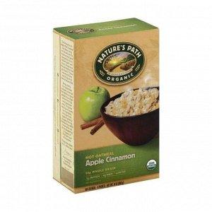 Овсяная каша органическая быстрого приготовления яблоко с корицей, apple cinnamon hot oatmeal, 400г