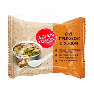 Суп грибной с яйцом, asian fusion, 12г