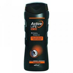 Bielita Active Life Men Гель для мытья тела и волос Заряд Энергии 250 мл