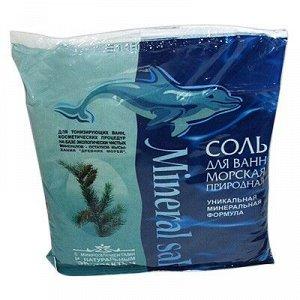 ГРИН ПРОМ Грин Пром Соль Морская Природная ХВОЯ пакет полиэтиленовый 1 кг