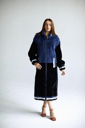 """Пальто из норки """"синяя ночь"""""""