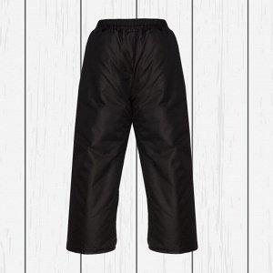 Брюки черные на поясе с утеплителем арт.10-003-черный