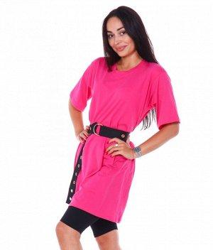 Костюм футболка_велосипедки Г193 (розовый)
