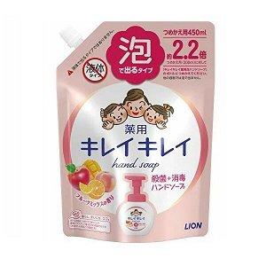 """Мыло-пенка для рук """"KireiKirei"""" с ароматом МИКСА фруктов (мягкая упаковка с крышкой) 450 мл / 16"""