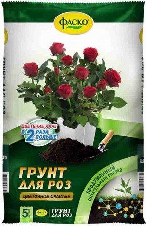 Грунт Роза 5л Цветочное счастье (1уп/5шт) ФАСКО