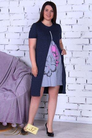Платье «Блик» графит
