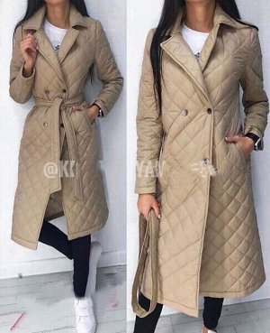 Стёганая куртка-плащ