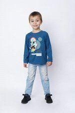 Футболка длинный рукав Disney на мальчика синего цвета
