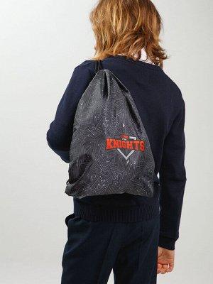 Сумка-мешок текстильная для мальчиков темно-серый