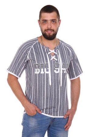 """Сэм Футболка """"Сэм"""". Трикотаж - Кулирка. Хлопок 100%. Размеры 44 - 62Мужская футболка прямого силуэта, покроя реглан. На полочке принт. Горловина овальной формы с разрезом и люверсами со шнур"""