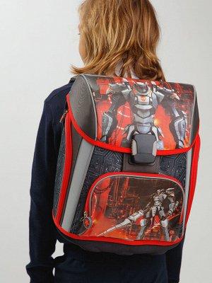 Рюкзак текстильный для мальчиков черный,красный