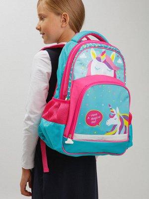 Рюкзак текстильный для девочек голубой,розовый