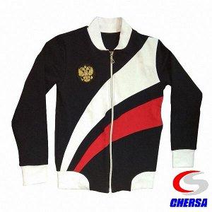 Куртка (толстовка) спортивная из футера с гербом (Артикул: 7088 )