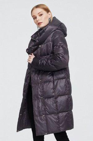 Женский зимний пуховик с капюшоном ХИТ ПРОДАЖ, цвет пурпурный