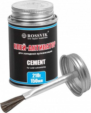 Клей активатор 210гр/150мл (с кисточкой) Rossvik