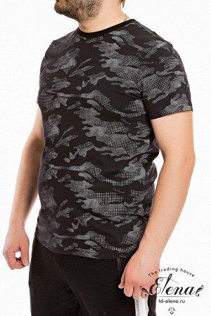Футболка Мужская футболка выполнена из хлопкового полотна с набивным рисунком. Покрой свободный, горловина имеет круглый вырез. Размерный ряд: 44-62. Состав Хлопок 100% Артикул 11923 Базовая единица ш