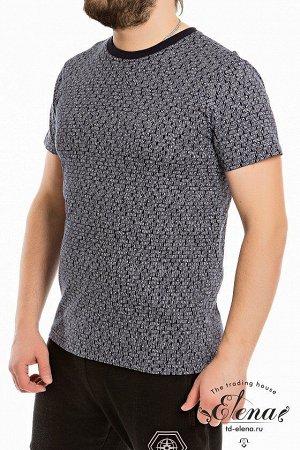 Футболка Мужская футболка выполнена из хлопкового полотна с набивным рисунком. Покрой свободный, горловина с круглым вырезом. Размерный ряд: 44-62. Состав Хлопок 100% Артикул 11903 Базовая единица шт