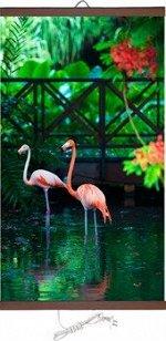 Гибкий обогреватель на стену Розовый Фламинго 400Вт (ЭО 448/2) (К)