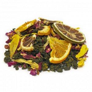 Чай Каприз 🌿ВКУС Китайский чай Те Гуань Инь с кольцами лайма, сегментами лимона и апельсина, с добавлением лепестков роз и дробленой корицы. Невероятно свежий и пикантный цитрусовый вкус с едва уловим