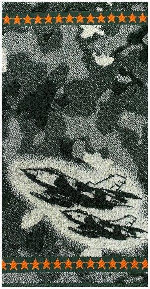 Полотенце махровое 4386 КАМУФЛЯЖ - САМОЛЕТЫ р-р 30х60
