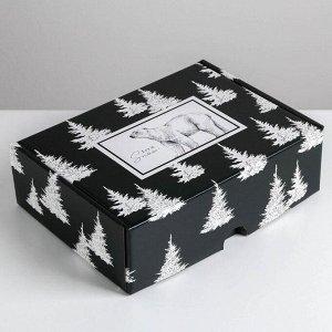 Складная коробка «Новый год», 30,7 ? 22 ? 9,5 см