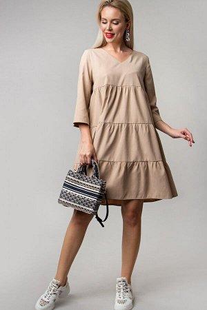 Платье Беверли цвет беж (П-234-2)