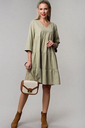 Платье Беверли цвет фисташка (П-234-1)