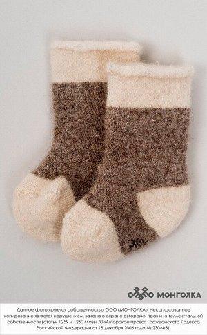Носки детские из 100% монгольской шерсти