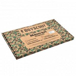 Мангал 500х300х850 мм, ВЫСОКИЙ, сборный, в картонной коробке