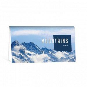 В горах Карманный недатированный планинг Listoff — это компактный, горизонтально ориентированный еженедельник. Внутренний блок: 64 листа, бумага 65 г/кв.м. Дополнительные разделы: личные данные, кален