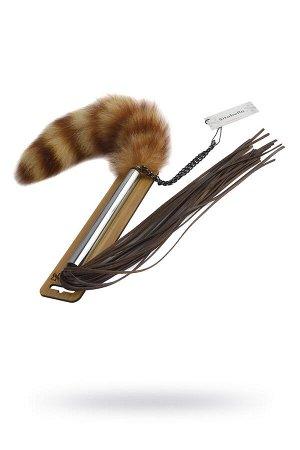 Плеть Sitabella коричневая 45 см,кожа