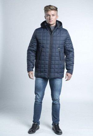 Куртка Верхняя ткань полиэстер 100%. Утеплитель синтепон 160 г/м. Подклад 210Т. ОПИСАНИЕ: Куртка прямого силуэта. Застежка молния с ветрозащитным клапаном. Длина изделия 74 см. Цвет синий.