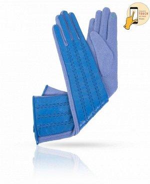 Перчатки Верх: Натуральная лакированная кожа + трикотаж Подкладка: 80% Шерсть + 20% Найлон Бренд: Dali Exclusive Производство: Китай Цвет: Лазурный, голубой  Сочетание голубых тонов в этих перча