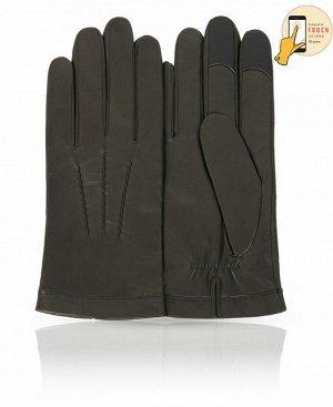 Перчатки Верх: Натуральная кожа ягненка Подкладка: 100% шерсть Бренд: MICHEL KATAN? Производство: Венгрия Цвет: Оливковый  Мужчины, предпочитающие одеваться в зелено-коричневой гамме, оценят кра