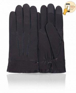 Перчатки Верх: Натуральная кожа ягненка Подкладка: 100% шерсть Бренд: MICHEL KATAN? Производство: Венгрия Цвет: Темно-синий  Мужские перчатки универсального фасона на теплой шерстяной подкладке
