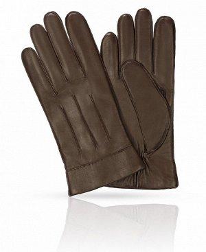 Перчатки Верх: Натуральная кожа ягненка Подкладка: 100% шерсть Бренд: MICHEL KATAN? Производство: Венгрия Цвет: Темный коффе  Коричневый цвет в мужском гардеробе традиционно ассоциируется с англ
