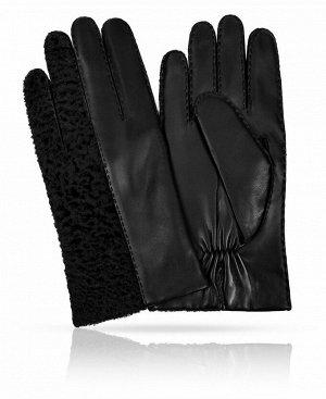 Перчатки Верх: Натуральная кожа, мех ягненка Подкладка: 100% шерсть Бренд: MICHEL KATAN? Производство: Венгрия Цвет: Черный  Эти перчатки созданы для любителей нестандартных решений. Сразу привл