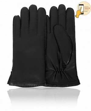 Перчатки Верх: Натуральная кожа ягненка Подкладка: 100% шерсть Бренд: MICHEL KATAN? Производство: Венгрия Цвет: Черный  Мужские перчатки из натуральной кожи - всегда необходимая деталь гардероба