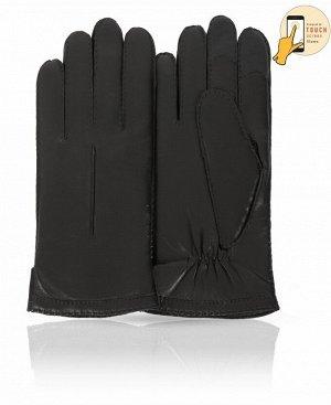 Перчатки Верх: Натуральная кожа ягненка Подкладка: 100% шерсть Бренд: MICHEL KATAN? Производство: Венгрия Цвет: Черный  Удобные и качественные кожаные перчатки Michel Katan? смотрятся подчеркнут